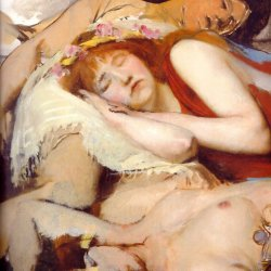 Lawrence-Alma-Tadema-Exhausted-Maenides-after-the-Dance