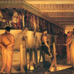 Lawrence-Alma-Tadema-Phidias-Showing-the-Frieze-of-the-Parthenon-to-his-Friends