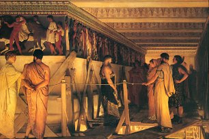 Lawrence Alma Tadema Phidias Showing the Frieze of the Parthenon to his Friends Wandbild