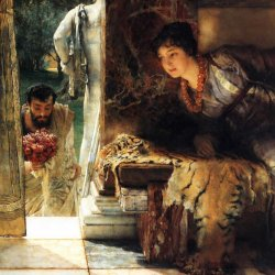 Lawrence-Alma-Tadema-Welcome-Footsteps