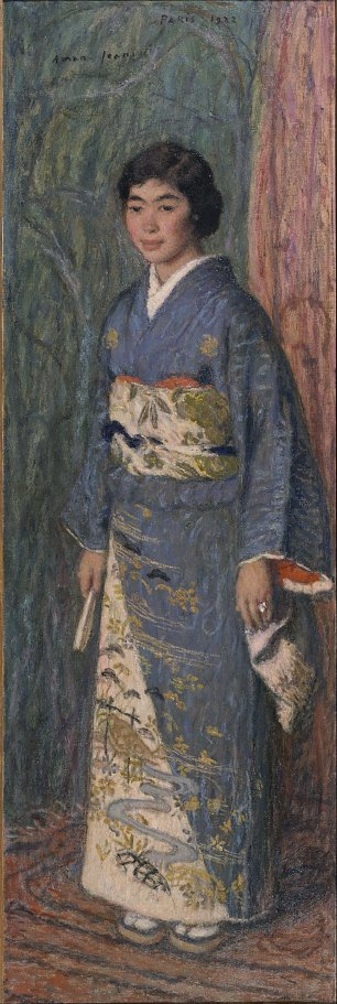 Edmond Aman Jean Portrait of a Japanese Woman Mrs. Kuroki Wandbild