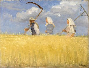 Anna Ancher Harvesters Wandbild