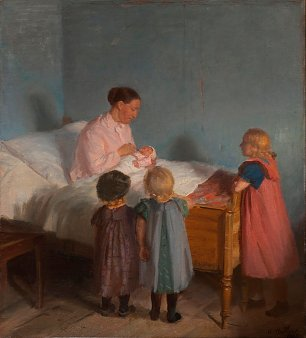 Anna Ancher Little Brother Wandbild