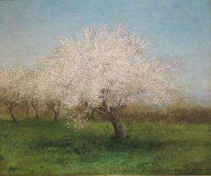 Edward Mitchell Bannister Apple Trees in a Meadow Wandbild