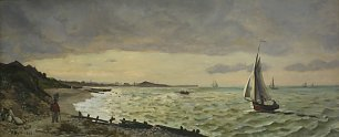 Frederic Bazille The Beach at Sainte Adresse Wandbild