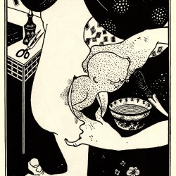 Aubrey-Beardsley-Birth-from-the-calf-of-the-leg