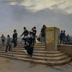 Jean-Beraud-A-Windy-Day-on-the-Pont-des-Arts