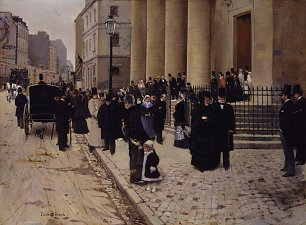 Jean Beraud The Church of Saint Philippe du Roule Paris Wandbild