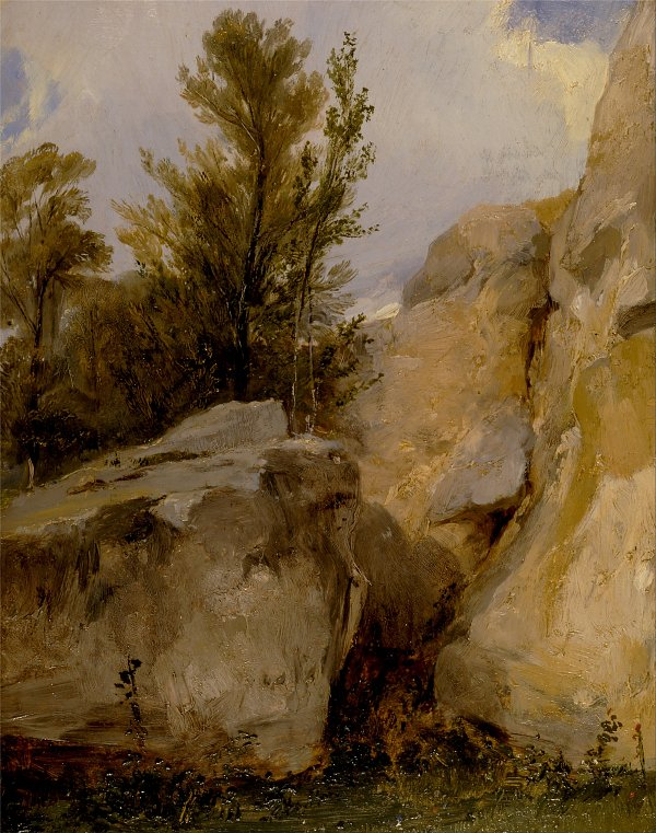 Richard Parkes Bonington In the Forest of Fontainebleau