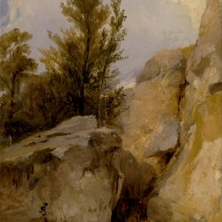 Richard-Parkes-Bonington-In-the-Forest-of-Fontainebleau