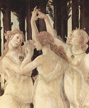 Sandro Botticelli Fruehling Primavera Detail 1 Wandbilder