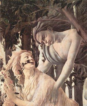 Sandro Botticelli Fruehling Primavera Detail 4 Wandbilder