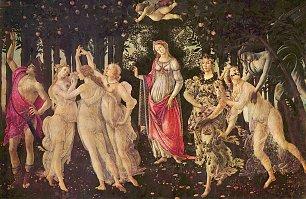 Sandro Botticelli Fruehling Primavera Wandbilder
