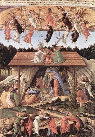 Sandro Botticelli Geburt Christi Mystische Geburt Wandbilder