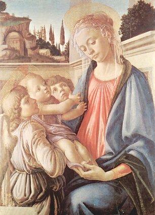 Sandro Botticelli Madonna und zwei Engel Wandbilder
