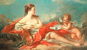 Francois Boucher Erato The Muse Of Love Poetry Wandbild