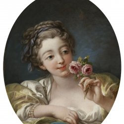 Francois-Boucher-Girl-with-Roses
