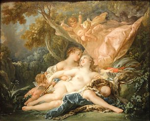 Francois Boucher Jupiter in the Guise of Diana and the Nymph Callisto Wandbild