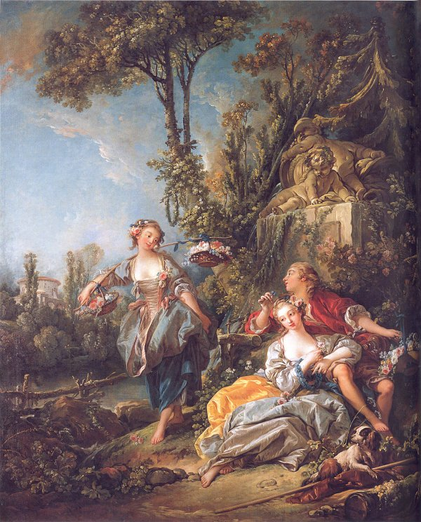 Francois Boucher Lovers in a Park