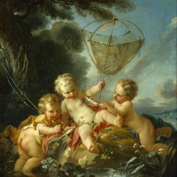 Francois-Boucher-Putti-as-Fisherman