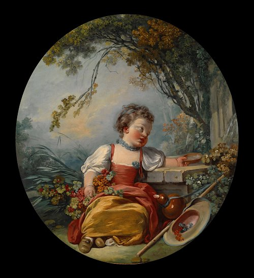 Francois Boucher The Little Pilgrim Wandbild