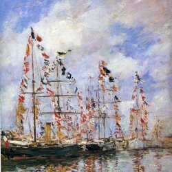 Eugene-Boudin-Sailing-ships-at-deauville