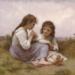 William-Adolphe-Bouguereau-A-Childhood-Idyll