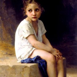 William-Adolphe-Bouguereau-At-the-Foot-of-the-Cliff