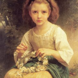 William-Adolphe-Bouguereau-Child-Braiding-A-Crown