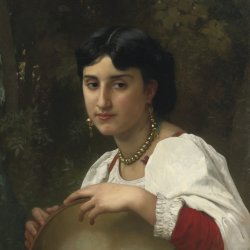 William-Adolphe-Bouguereau-Italienne-au-tambourin