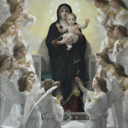 William-Adolphe-Bouguereau-La-Vierge-aux-anges