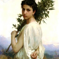 William-Adolphe-Bouguereau-Laurel-Branch