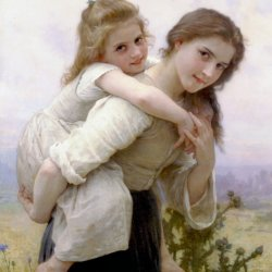 William-Adolphe-Bouguereau-Not-Too-Much-To-Carry