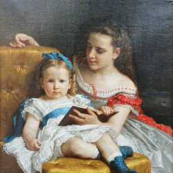William-Adolphe-Bouguereau-Portrait-d-Eva-et-Frances-Johnston