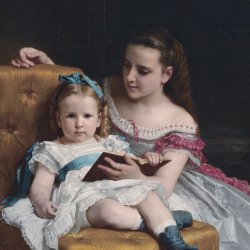 William-Adolphe-Bouguereau-Portrait-of-Eva-and-Frances-Johnston