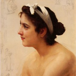 William-Adolphe-Bouguereau-Study-Of-A-Woman-For-Offering-To-Love
