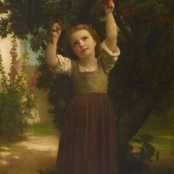 William-Adolphe-Bouguereau-The-Cherry-Picker