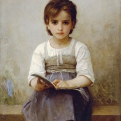 William-Adolphe-Bouguereau-The-Difficult-Lesson