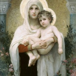 William-Adolphe-Bouguereau-The-Madonna-of-the-Roses
