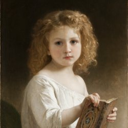 William-Adolphe-Bouguereau-The-Story-Book
