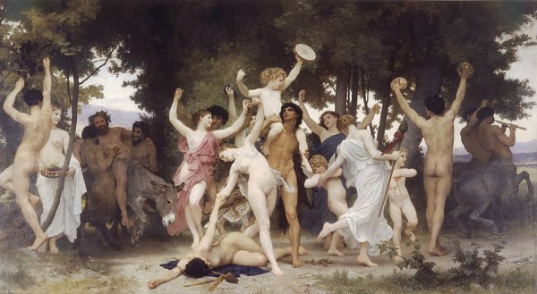 William Adolphe Bouguereau The Youth of Bacchus