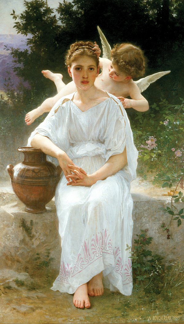 William Adolphe Bouguereau Whisperings of Love