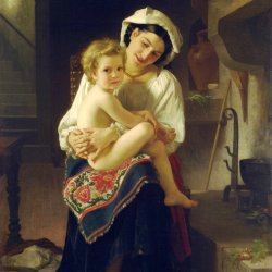 William-Adolphe-Bouguereau-Young-Mother-Gazing-At-Her-Child