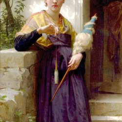 William-Adolphe-Bouguereau-the-spinner