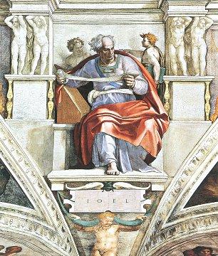 Michelangelo Buonarroti Sixtinische Kapelle Sibyllen und Propheten Der Prophet Joel Wandbilder