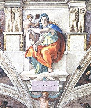 Michelangelo Buonarroti Sixtinische Kapelle Sibyllen und Propheten Die Delphische Sibylle Wandbilder