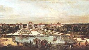Canaletto II Ansicht von Muenchen Schloss Nymphenburg Wandbilder