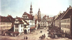 Canaletto II Ansicht von Pirna Marktplatz von Pirna Wandbilder