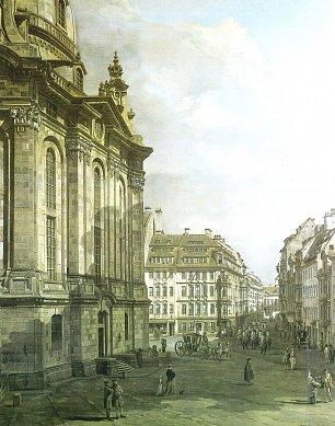 Canaletto II Die Frauenkirche mit dem Haus Zur Glocke und dem Eckhaus Rampische Gasse Wandbilder