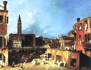 Canaletto Die Werkstatt der Steinmetze Wandbilder